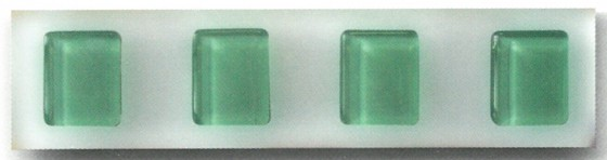 Green Gem Glass Border