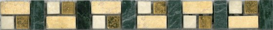 Natural Stone and Glass Beige 2 Strip Listello