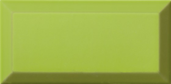 Metro Bevel Gloss Lime Wall Tile