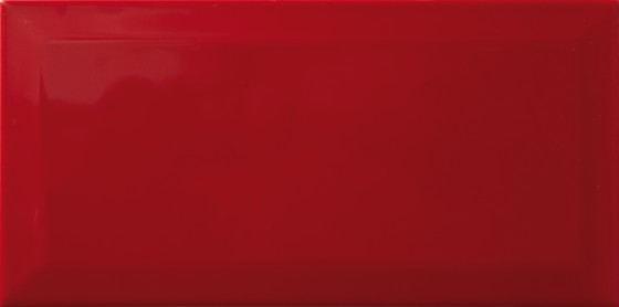 Metro Bevel Gloss Red Wall Tile